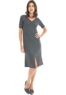 Vestido Cinza Mandi feminino  0e442214ce255