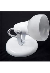 Spot De Sobrepor Em Alumínio Com Vidro Para 1 Lâmpada Branco