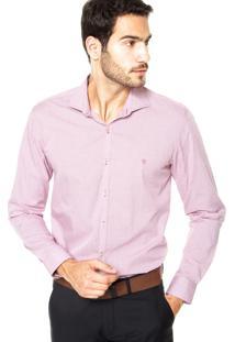 Camisa Vr Bordado Rosa