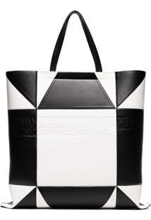 Calvin Klein 205W39Nyc Bolsa Tote De Couro - Preto