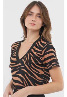 Camiseta Mob Animal Print Preta - Kanui