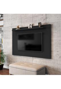 Painel Para Tv Até 50 Pol Móveis Bechara Kenzo Preto Fosco