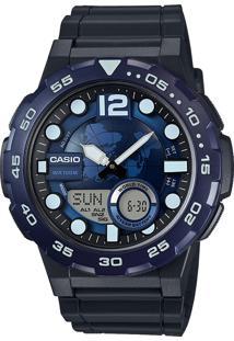 fb6a9fd4589 ... Relógio Casio Aeq-100W-2Avdf Azul-Marinho Preto
