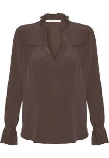 Camisa Feminina Agatha Lisa - Marrom