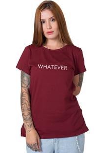 Camiseta Stoned Whatever Bordô - Tricae