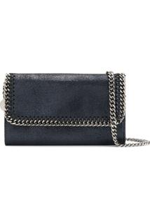 Stella Mccartney Carteira Falabella Shiny Dotted - Azul