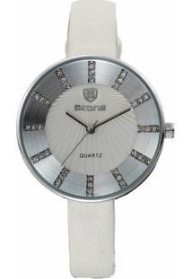 Relógio Skone Analógico 9250 - Feminino-Branco