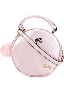 Bolsa Gash Barbie Transversal Redonda Feminina - Feminino-Rosa