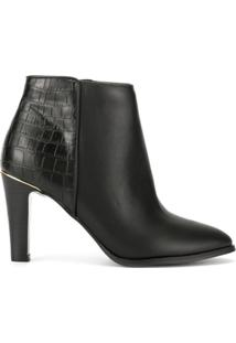 Loveless Ankle Boot Com Salto Alto - Preto
