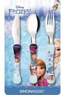 Faqueiro Com 3 Peças Frozen Kids Simonaggio 1443