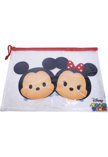 Necessaire Minas De Presentes Mickey & Minnie Tsum Tsum Azul