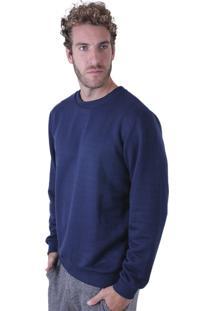 Blusa Liquido Moletinho Basic Azul Marinho