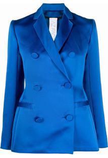 Az Factory Blazer Switchwear Duchesse Com Abotoamento Duplo - Azul