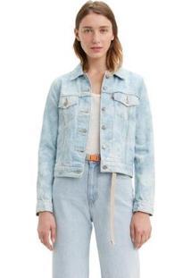 Jaqueta Jeans Levis Trucker - Feminino-Azul Claro