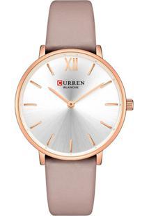 Relógio Curren Analógico C9040L Rosa