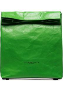 Simon Miller Clutch 'Lunchbag 20' De Couro - Verde