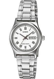 Relógio Casio Ltp-V006D-7Budf Prata - Kanui
