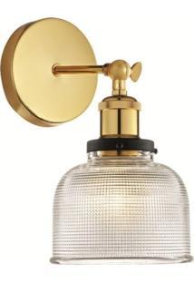 Arandela Mart Trapani 6619 Transparente/Dourado