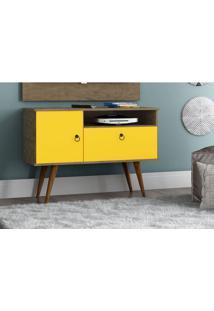 Rack Para Tv Yan Demolição Amarelo - Patrimar Móveis