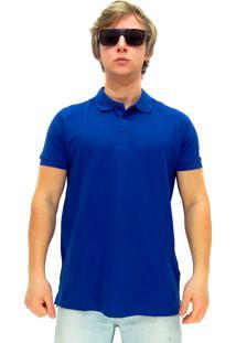 Camisa Polo Maresia Social Azul