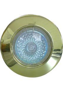 Spot Dicróica Fixo Zamac Mr16 50W 220V Dourado