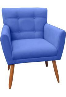 Poltrona Decorativa Onix Suede Azul Marinho - Ds Móveis