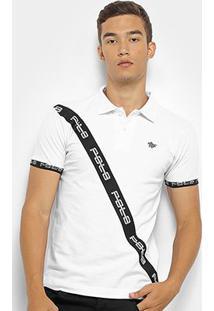Camisa Polo Polo Rg 518 Masculina - Masculino-Branco