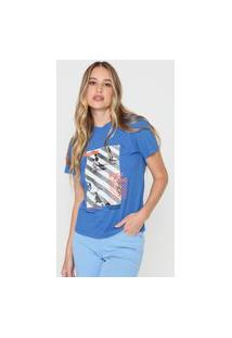 Camiseta Morena Rosa Keep Going Azul