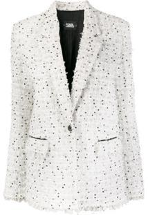 Karl Lagerfeld Blazer De Tweed Bouclê - Branco