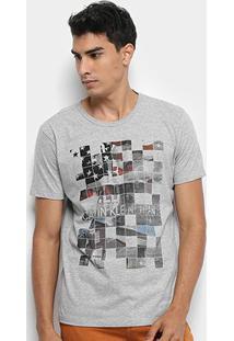 Camiseta Calvin Klein Estampada Masculina - Masculino-Cinza