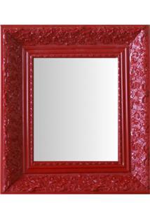 Espelho Moldura Rococó Fundo 16428 Vermelho Art Shop