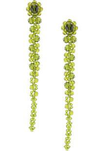 Simone Rocha Beaded Drop Earrings - Green