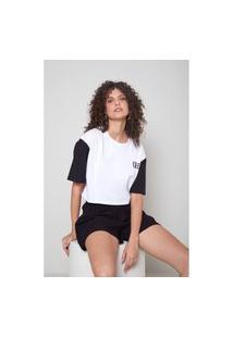 T-Shirt Malha Bicolor Silk Aw21