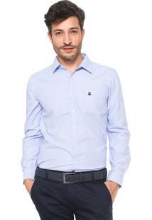Camisa Broken Rules Reta Padronagem Branca/Azul