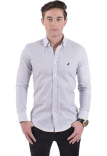Camisa Social Horus Slim Xadrez Branco