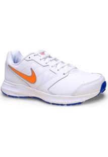 Tenis Masc Nike 684654-101 Downshifter 6 Lea Branco/Laranja/Azul
