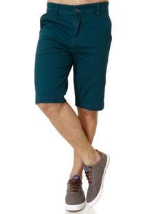 Bermuda Sarja Masculina Verde