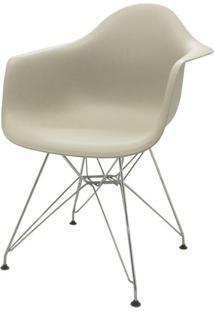 Cadeira Eames Eiffel Com Braco Polipropileno Nude Base Cromada - 53044 - Sun House