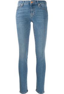 7 For All Mankind Calça Jeans Skinny Cintura Alta - Azul