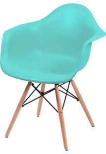 Cadeira Eames Com Braco Base Madeira Tiffanny Fosco - 43634 Sun House