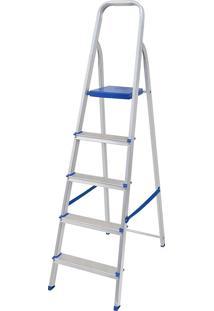 Escada 5 Degraus Em Alumínio, Capacidade 120 Kg - Mor