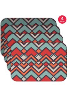 Jogo Americano Love Decor Wevans Abstract Color Kit Com 4 Pçs