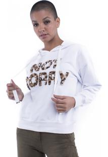 Blusa Moletom Not Sorry Pop Me Branco