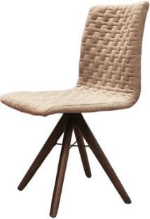 Cadeira Sun Linho Marrom Mescla Base Cone Giratoria - 42453 Sun House