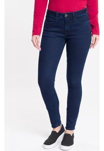 Calça Jeans Five Pocktes Mid Rise Skinny Ckj 011 Mid Rise Skinny - Marinho - 34