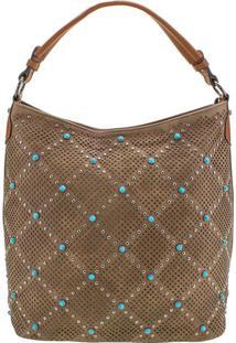 Bolsa Feminina Arara Dourada - Lt8145 Taupe