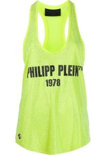 Philipp Plein Regata Com Aplicação No Logo - Amarelo