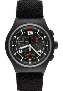 Relógio Swatch Masculino Nylon Preto - Yob404