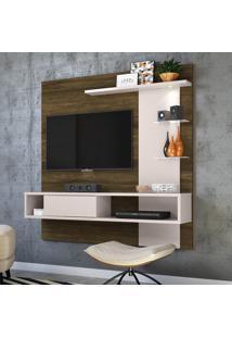 Painel Para Tv Até 55 Pol Colibri Atlântico Canela Rústico/Off White