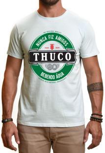 Camiseta Use Thuco Nunca Fiz Amigos Azul Claro